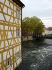Rathausfassade und der Fluß Pegnitz
